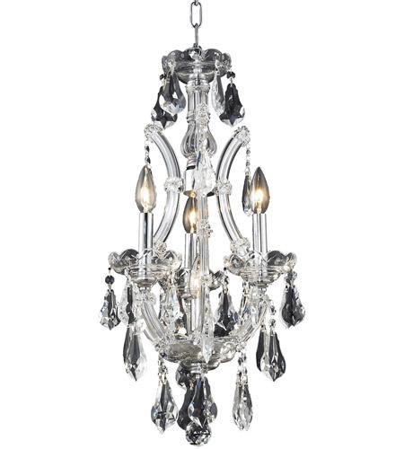 Elegant Lighting Maria Theresa 4 Light Pendant in Chrome