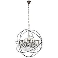 elegant lighting 1130g43db rc geneva 18 light 44 inch dark bronze pendant ceiling light in clear urban classic