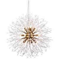 elegant lighting 3507d24g solace 12 light 24 inch gold pendant ceiling light