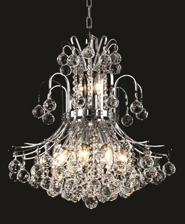 Elegant Lighting V8001d19c Ec Toureg Mini Chandelier Chrome