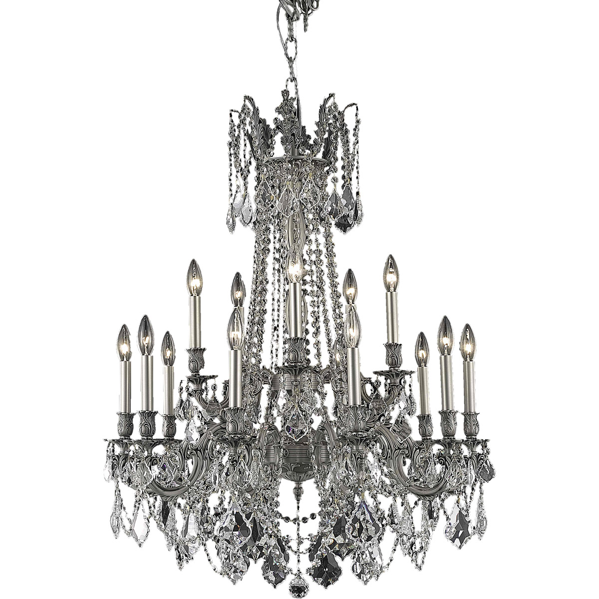 15 Light 36 Pewter Dining Living Room Asfour Crystal