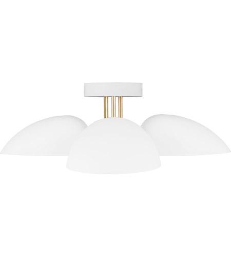 generation lighting ef1023mwt ed ellen degeneres jane 3 light 24 inch matte white flush mount ceiling light