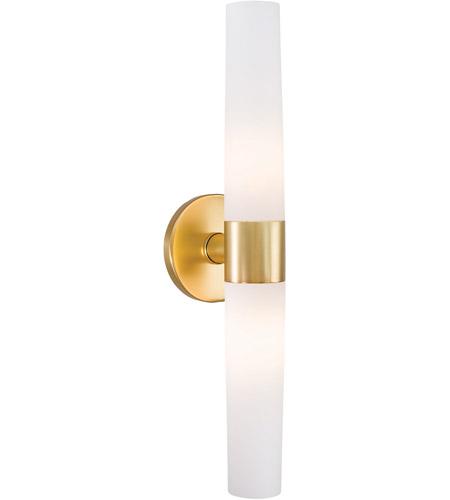 george kovacs p5042 248 saber ii 2 light 20 inch honey gold bath wall light