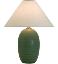 House of Troy Scatchard 1 Light Table Lamp in Green Matte