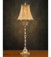 John Richard Alexander John 1 Light Buffet Lamp in Metalic ...