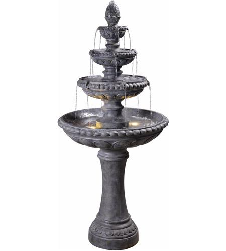 kenroy lighting 51030zc tucson zinc outdoor floor fountain