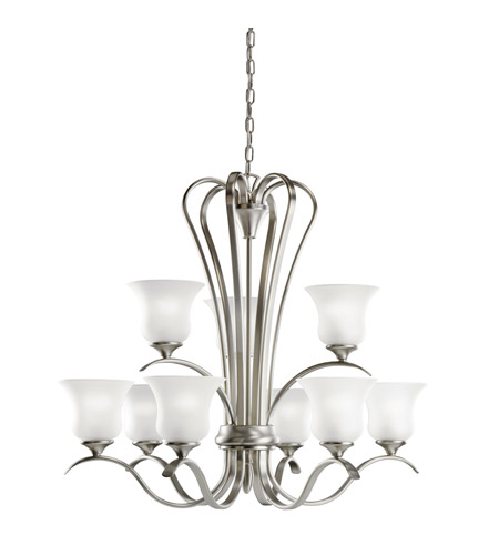 Kichler 10741ni Wedgeport 9 Light 32 Inch Brushed Nickel Fluorescent Chandelier Ceiling Photo