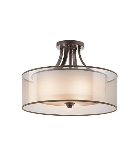 kichler 42387miz lacey 4 light 20 inch mission bronze semi flush light ceiling light