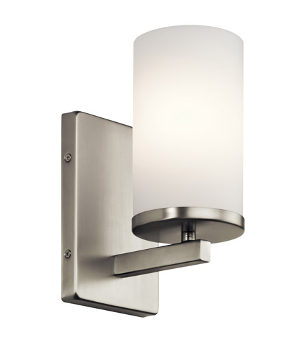 Kichler 45495NI Crosby 1 Light 5 inch Brushed Nickel Wall