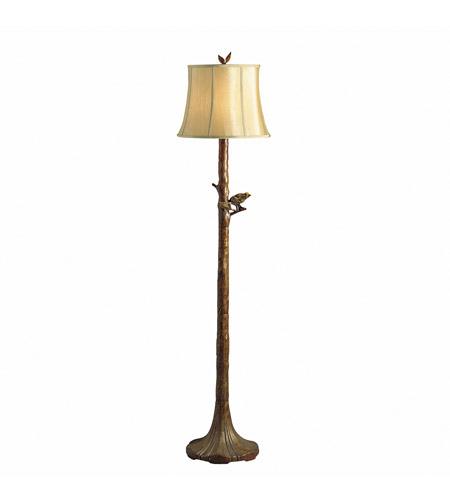 kichler lighting the woodlands 1 light floor lamp in woodbark 74138