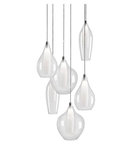 kuzco lighting mp3006 victoria led 13 inch chrome multi light pendant ceiling light