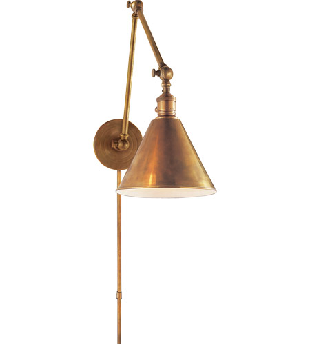 visual comfort studio sandy chapman double boston functional library light in hand rubbed antique brass sl2923hab open box