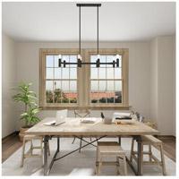 livex lighting 51138 04 copenhagen 8 light 40 inch black linear chandelier ceiling light