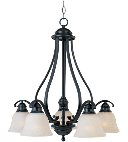 Maxim 11815icbk Linda 5 Light 25 Inch Black Down Chandelier Ceiling In Ice Photo