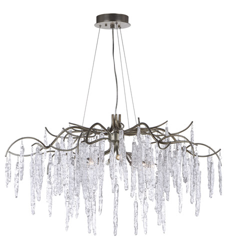Maxim 26284icsg Willow 8 Light 35 Inch Silver Gold Single Tier Chandelier Ceiling