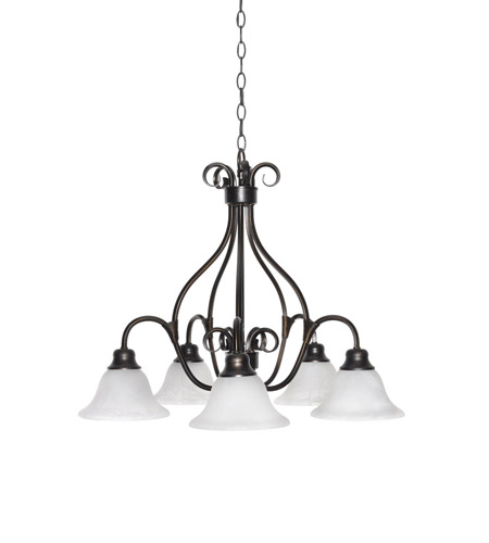 Maxim 2657mrkb Pacific 5 Light 26 Inch Kentucky Bronze Down Chandelier Ceiling In Marble