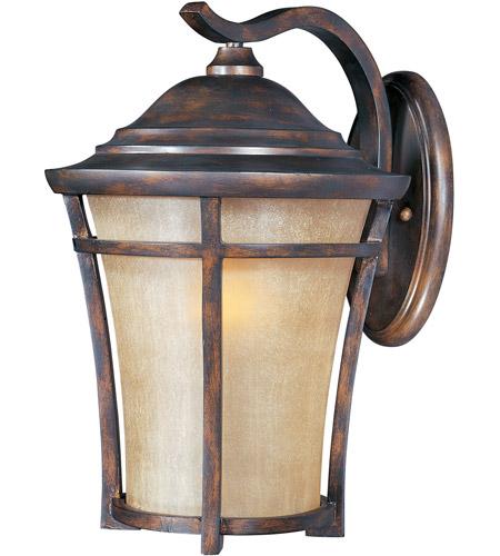 maxim 40165gfco balboa vx 1 light 18 inch copper oxide outdoor wall mount