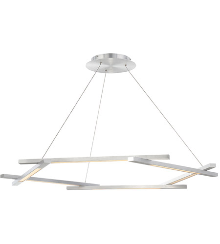 Modern Forms Pd 43748 Al Metric Led 12 Inch Brushed Aluminum Chandelier Ceiling Light