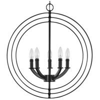 equinox 5 light matte black pendant ceiling light