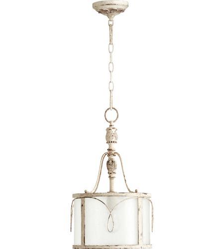 quorum 3506 70 salento 1 light 12 inch persian white pendant ceiling light