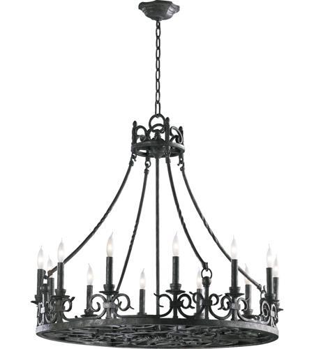 Quorum 6093 12 50 Lorenco Light 34 Inch Spanish Silver Chandelier Ceiling
