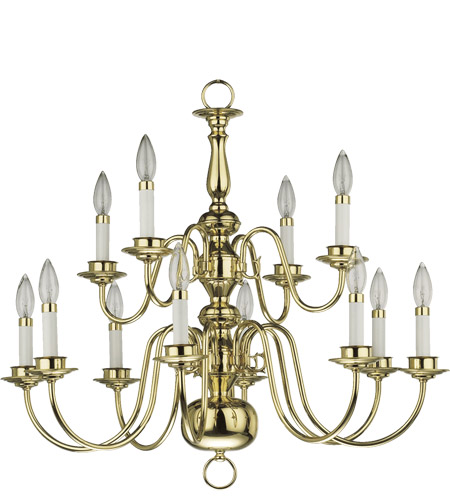 Quorum 6171 12 2 Signature Light 28 Inch Polished Brass Chandelier Ceiling