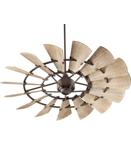 quorum 96015 86 windmill 60 inch oiled bronze with weathered oak blades indoor ceiling fan