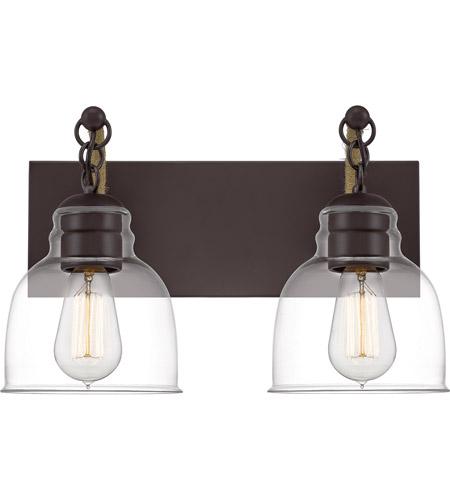 quoizel bon8616oz bosun 2 light 16 inch old bronze bath light wall light