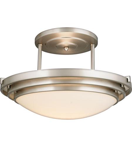 quoizel el1285cb electra 1 light 16 inch brushed chrome semi flush mount ceiling light