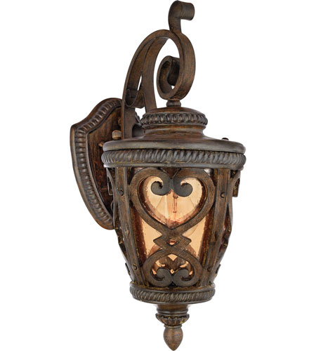 quoizel lighting fort quinn 1 light outdoor wall lantern in antique brown fq8308aw01