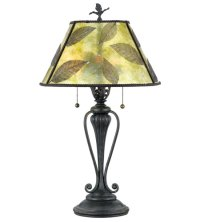 Quoizel Lighting Mica 2 Light Table Lamp in Bronze MC410T