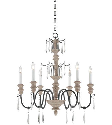 Savoy House 1 4340 6 192 Madeliane Light 28 Inch Distressed White
