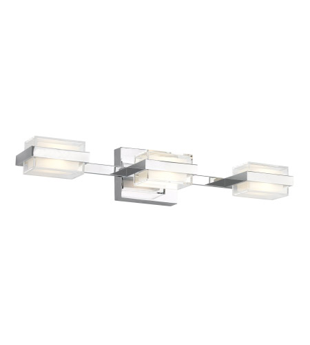 tech lighting 700bckmd3sc led930 kamden led 23 inch chrome bath light wall light