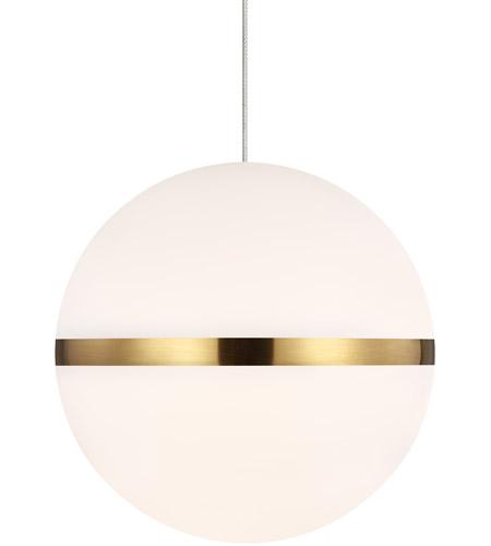 tech lighting 700mohnenb leds930 sean lavin mini hanea led 7 inch natural brass pendant ceiling light in monorail led 90 cri 3000k