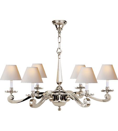 Visual Comfort Ah5010pn Np Alexa Hampton Myrna 6 Light 33 Inch Polished Nickel Chandelier Ceiling