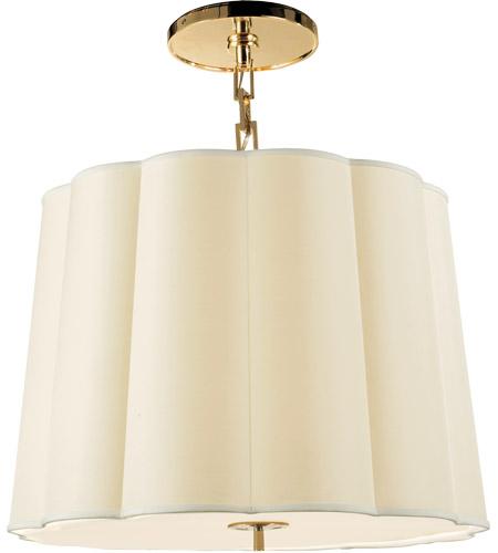 visual comfort bbl5015sb s barbara barry simple 5 light 25 inch soft brass hanging shade ceiling light