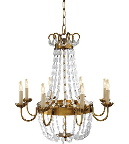 Visual Comfort Chc1426ab Sg E F Chapman Paris Flea Market 8 Light 24 Inch Antique Burnished Brass Chandelier Ceiling In