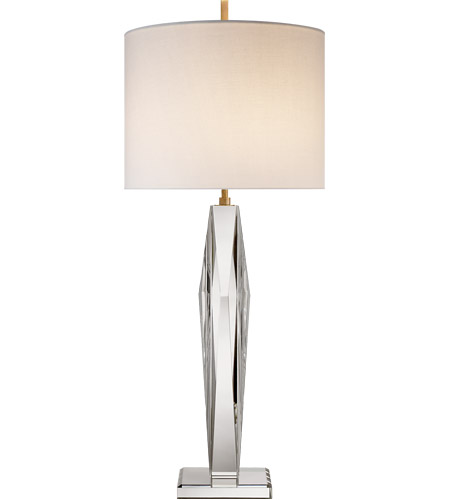 kate spade new york castle peak 34 inch 100 00 watt crystal table lamp portable light narrow