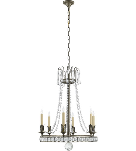 Visual Comfort Sn5107sn Joe Nye Regency 6 Light 22 Inch Sheffield Nickel Chandelier Ceiling In None