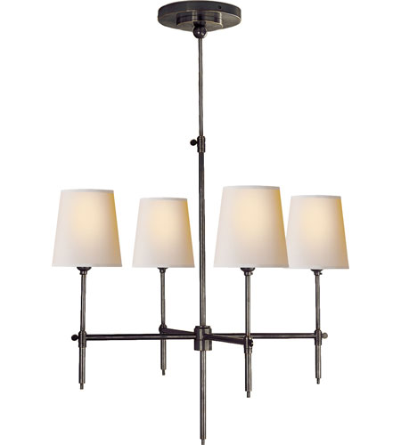 Visual Comfort Tob5002bz Np Thomas Obrien Bryant 4 Light 26 Inch Bronze Chandelier Ceiling