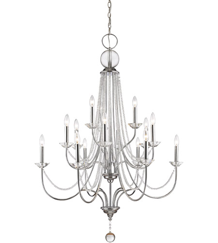Z Lite 429 15 Ch Serenade Light 36 Inch Chrome Chandelier Ceiling
