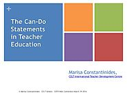 March 29   2014   The Can-Do Statements in Teacher Education