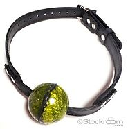 JT's Stockroom - Rubber Ball Gag with Buckling Rubber Strap