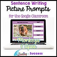 Respond to a Picture Prompt MONKEYS & APES Sentence Writing Google Classroom