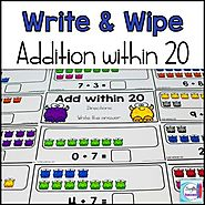 Addition Write and Wipe: Addition within 20 by Mercedes Hutchens