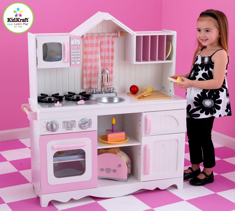 kidkraft modern country kitchen 53222 best floor for - barnkök litenleker.se