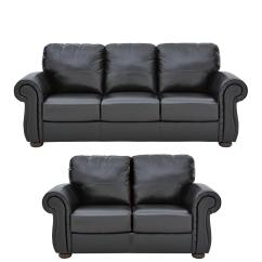 3 Seater Sofa Black Leather Cost To Reupholster Uk Sofas Three Home Garden Www Cassina Italian 2 Set Buy And Save