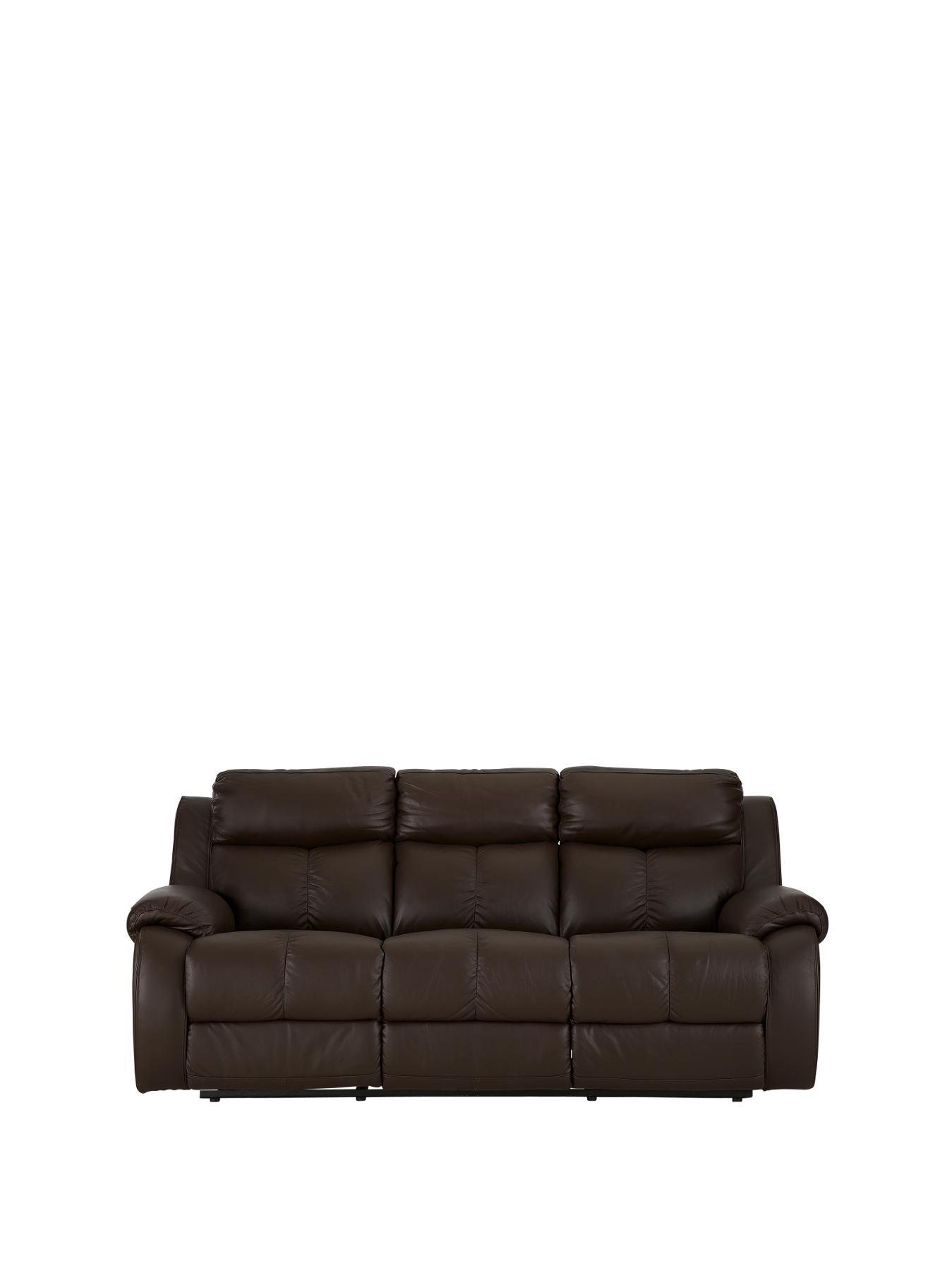 3 seater recliner sofa sale designs wooden littlewoods carlo black