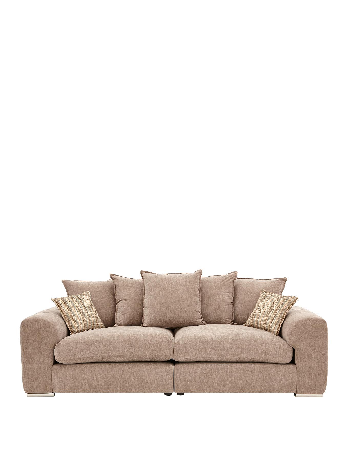 sophia sofa range clic clac bed maison du monde 4seater fabric greytaupe