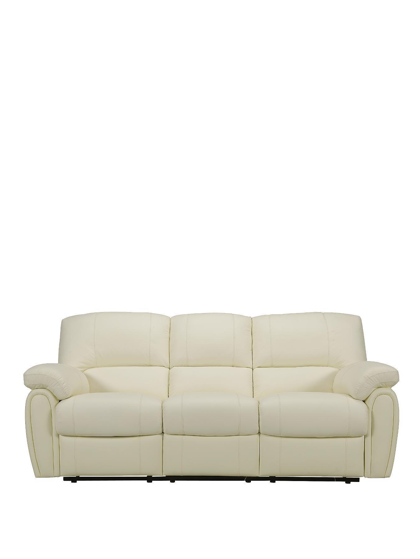 3 seater recliner sofa sale slide out bed uk littlewoods monterey black ivory